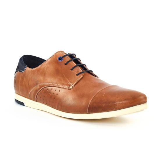 Chaussures Basses À Lacets Greenstone Bichat Cognac, vue principale de la chaussure homme