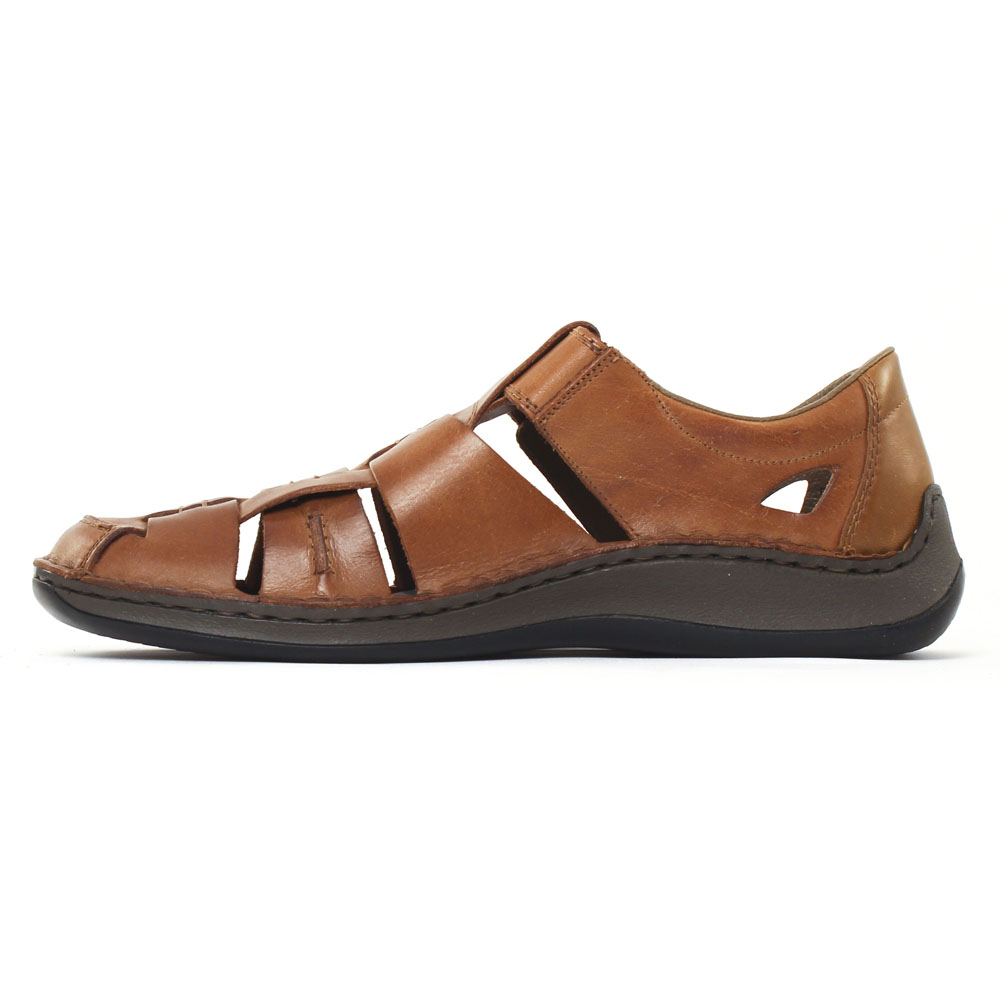 bc149f2613e6 Rieker 05275 Toffee | sandales maron printemps été chez TROIS PAR 3