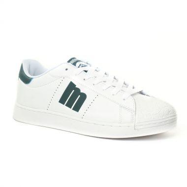 Tennis Mtng 84033 Blanc Vert, vue principale de la chaussure homme