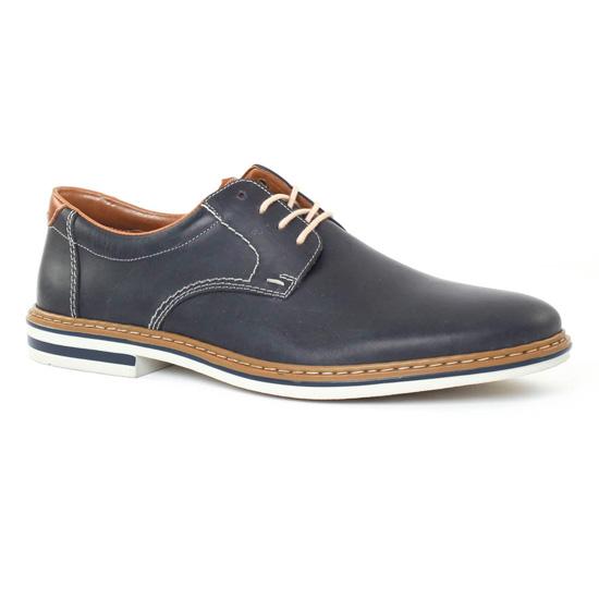 Chaussures à lacets Rieker bleues Casual homme FFVk36