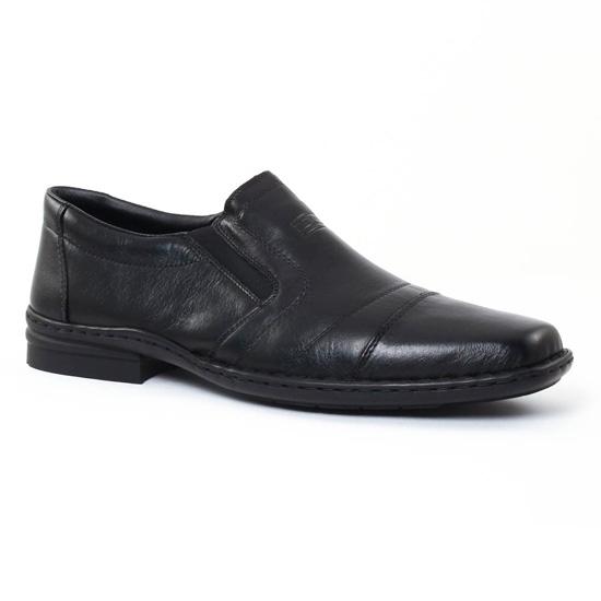 Mocassins Et Bateaux Rieker 19864 Schwarz, vue principale de la chaussure homme