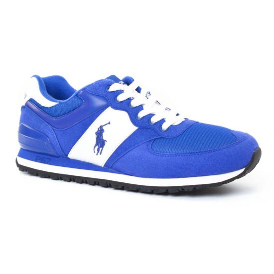 be9443b7e3c9f5 Tennis Polo Ralph Lauren Slaton Poney Bleu, vue principale de la chaussure  homme