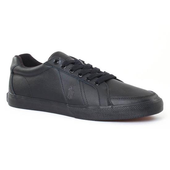 Tennis Polo Ralph Lauren Hugh y0471 noir, vue principale de la chaussure homme