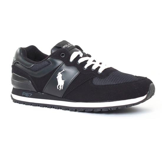 Tennis Polo Ralph Lauren Slaton Poney Noir, vue principale de la chaussure  homme 796e878d4aa1