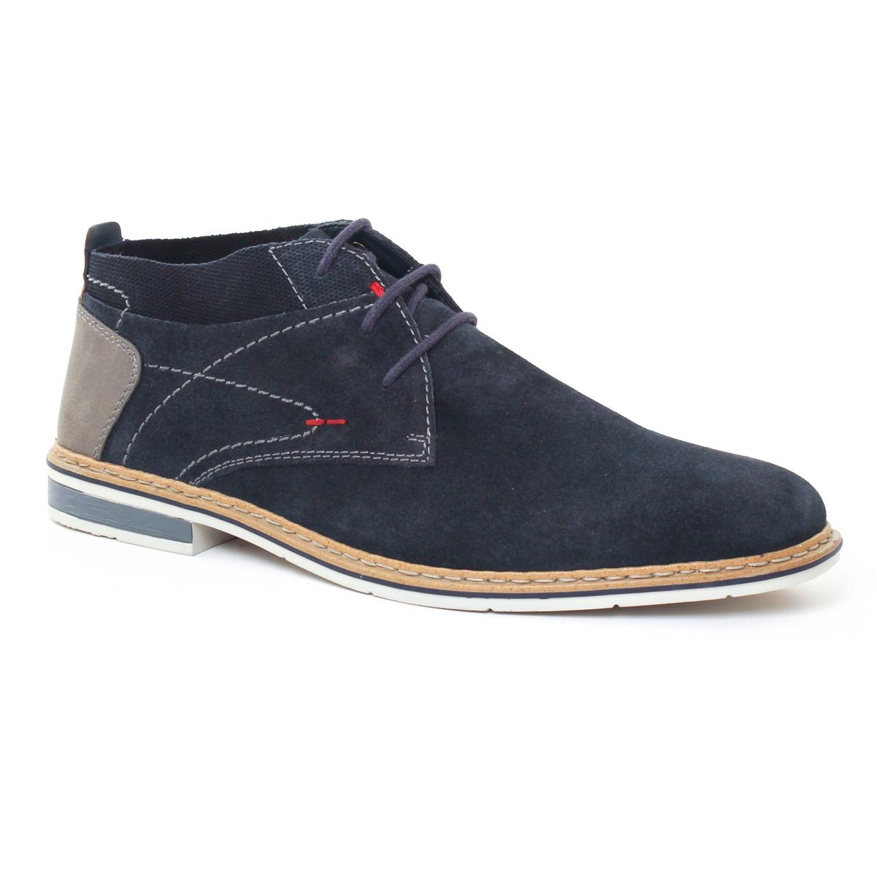 Chaussures homme été 2017 chaussures montantes rieker bleu marine
