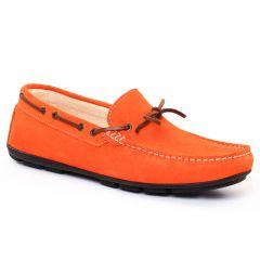 mocassins-bateaux orange: même style de chaussures en ligne pour hommes que les Christian Pellet