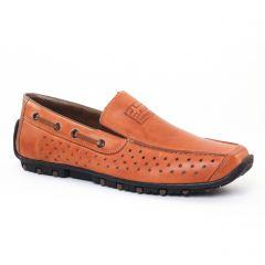 Chaussures homme été 2017 - mocassins rieker marron beige