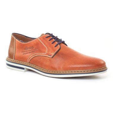 Chaussures Basses À Lacets Rieker B1428 Toffee, vue principale de la chaussure homme