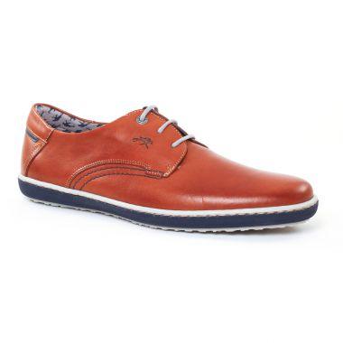 Chaussures Basses À Lacets Fluchos 9710 Marron, vue principale de la chaussure homme