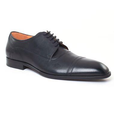 Chaussures Basses À Lacets Christian Pellet Ebert Veau Box Noir, vue principale de la chaussure homme