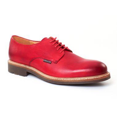 Chaussures Basses À Lacets Christian Pellet Nautilus Rouge, vue principale de la chaussure homme