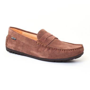 Mocassins Et Bateaux Christian Pellet Cador Taupe, vue principale de la chaussure homme