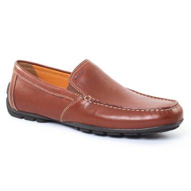 Mocassins Et Bateaux Geox U1144V Marron, vue principale de la chaussure homme