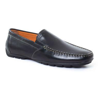 Mocassins Et Bateaux Geox U1144V Noir, vue principale de la chaussure homme