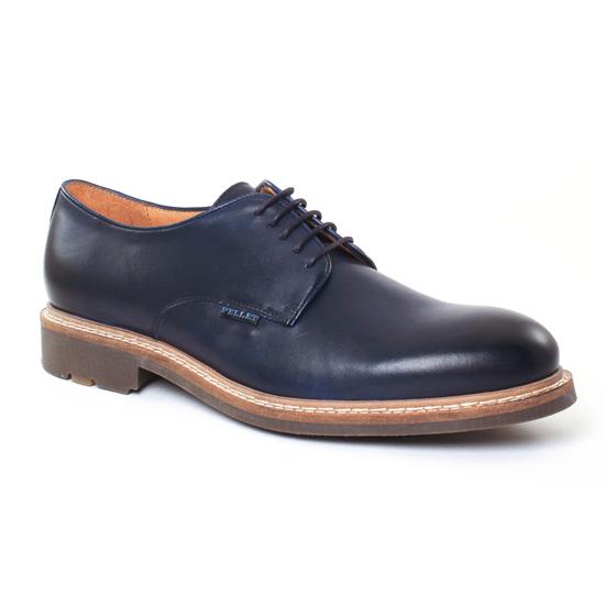 Chaussures Basses À Lacets Christian Pellet Nautilus Bleu, vue principale de la chaussure homme