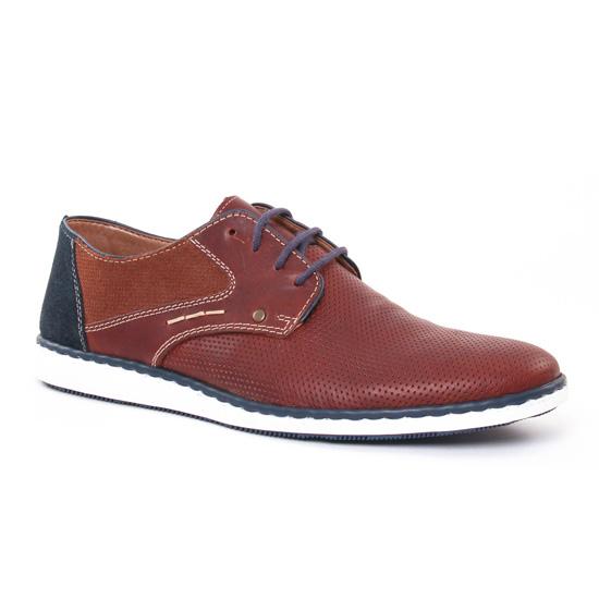 Chaussures Basses À Lacets Rieker 17824 Marron, vue principale de la chaussure homme