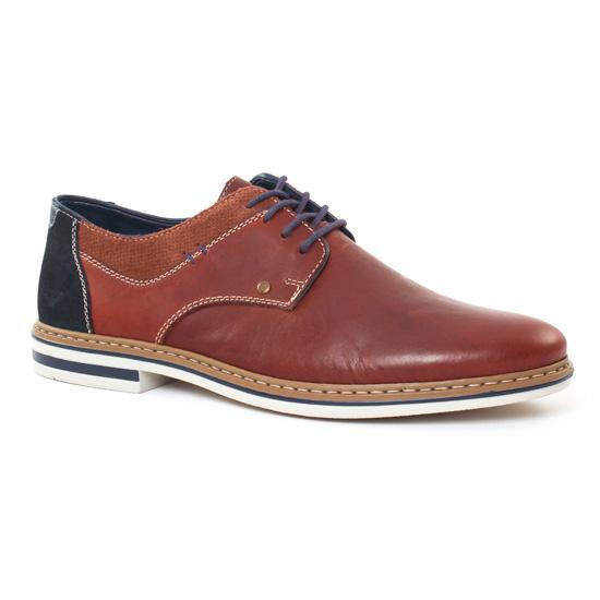 Chaussures Basses À Lacets Rieker B1403 Marron, vue principale de la chaussure homme