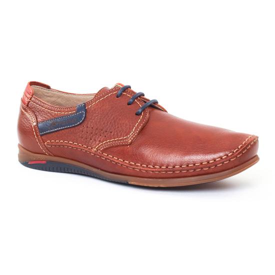 Chaussures Basses À Lacets Fluchos 8566 Marron, vue principale de la chaussure homme