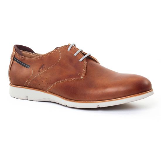 Chaussures Basses À Lacets Fluchos 9772 Marron, vue principale de la chaussure homme