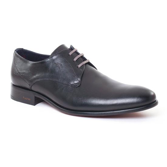 Chaussures Basses À Lacets Fluchos 8543 Noir, vue principale de la chaussure homme