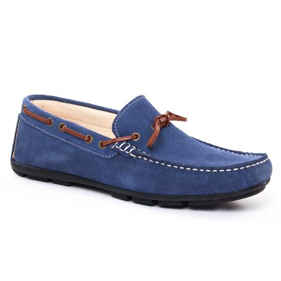 Mocassins Et Bateaux Ciao Polo 810 Bleu Jeans, vue principale de la chaussure homme