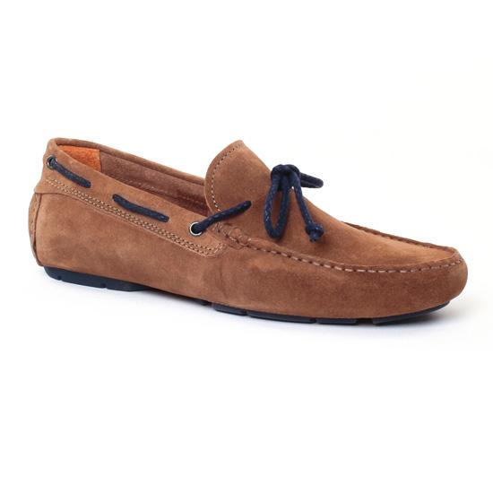 Mocassins Et Bateaux Christian Pellet Icar Taupe, vue principale de la chaussure homme