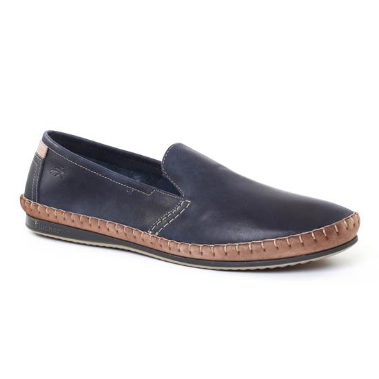 Mocassins Et Bateaux Fluchos 8264 Marine, vue principale de la chaussure homme