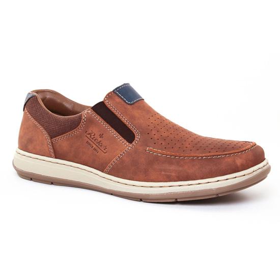 Mocassins Et Bateaux Rieker 17367 Brown, vue principale de la chaussure homme
