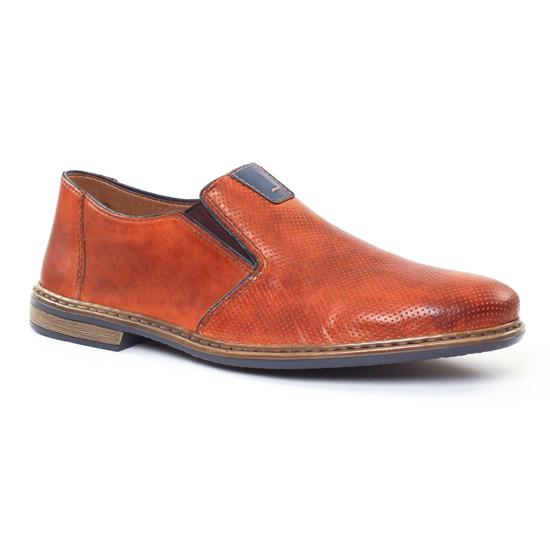Mocassins Et Bateaux Rieker 13460 Amaretto, vue principale de la chaussure homme