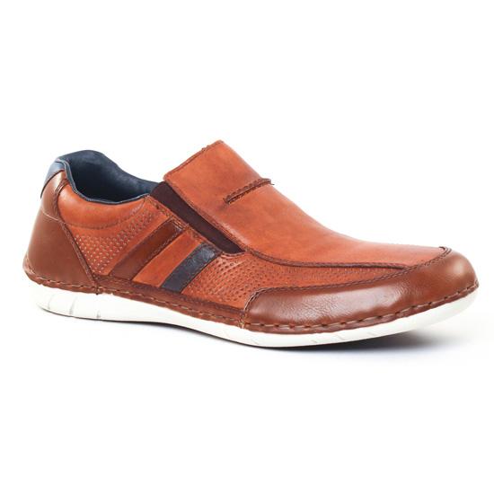 Mocassins Et Bateaux Rieker B8256 Kastanie, vue principale de la chaussure homme