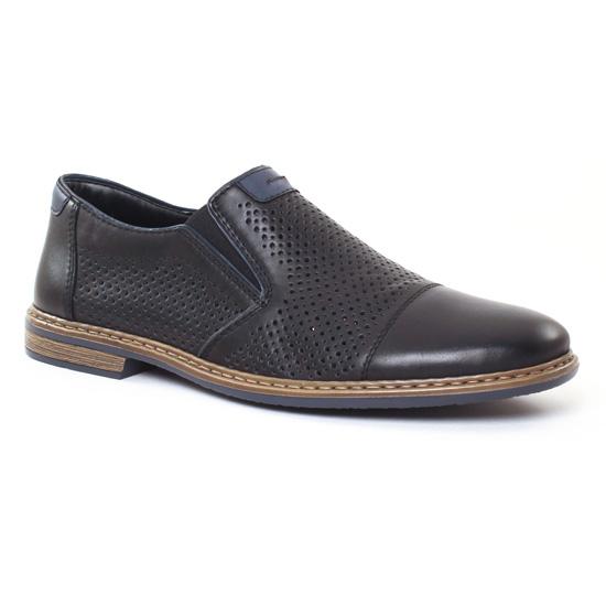 Mocassins Et Bateaux Rieker 13496 Noir, vue principale de la chaussure homme