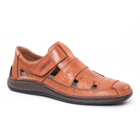 Sandales Rieker 05287 Toffee, vue principale de la chaussure homme