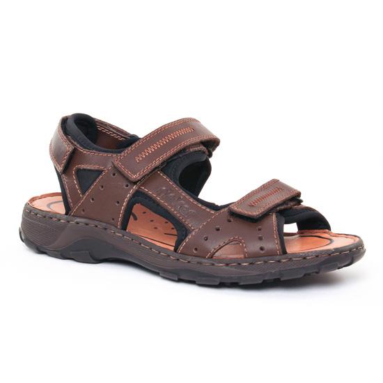 Sandales Rieker 26061 Nougat, vue principale de la chaussure homme