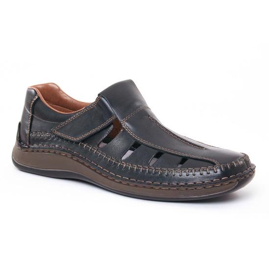 Sandales Rieker 05295 Nero, vue principale de la chaussure homme