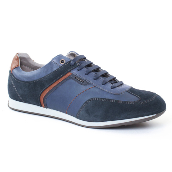 Tennis Geox U722Fb Navy, vue principale de la chaussure homme