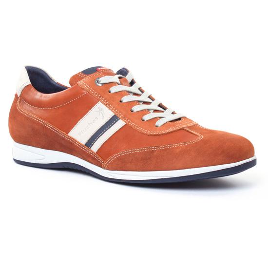 Tennis Fluchos 9713 Marron, vue principale de la chaussure homme