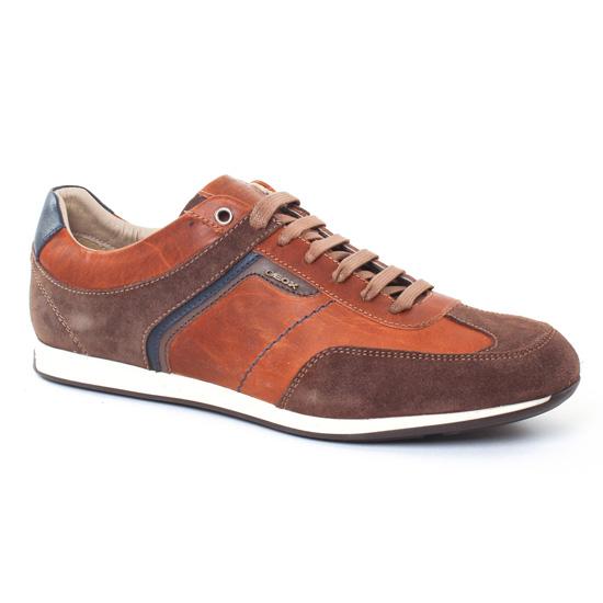 Tennis Geox U722Fb Marron, vue principale de la chaussure homme