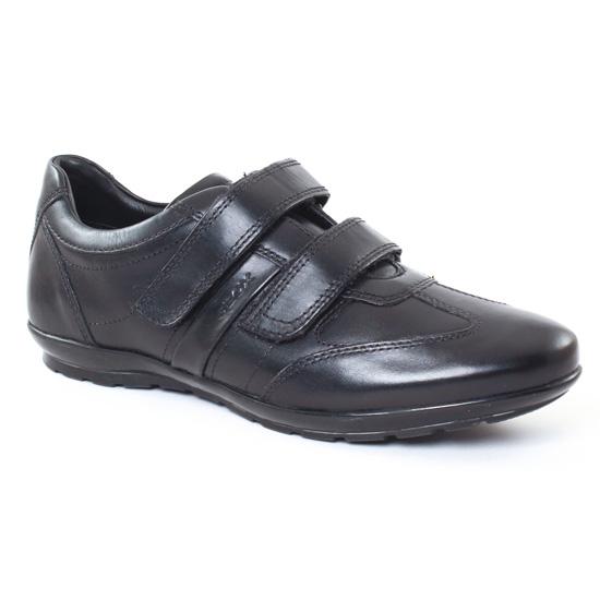 Tennis Geox U32A5D Black, vue principale de la chaussure homme