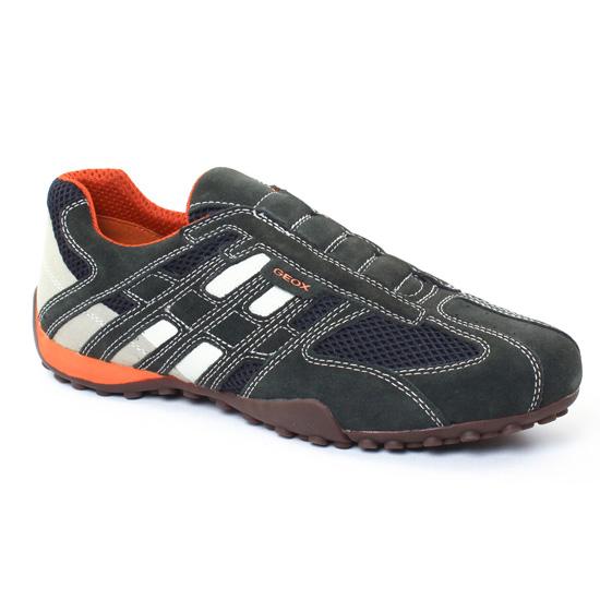 Tennis Geox U4207L Grey Blanc, vue principale de la chaussure homme