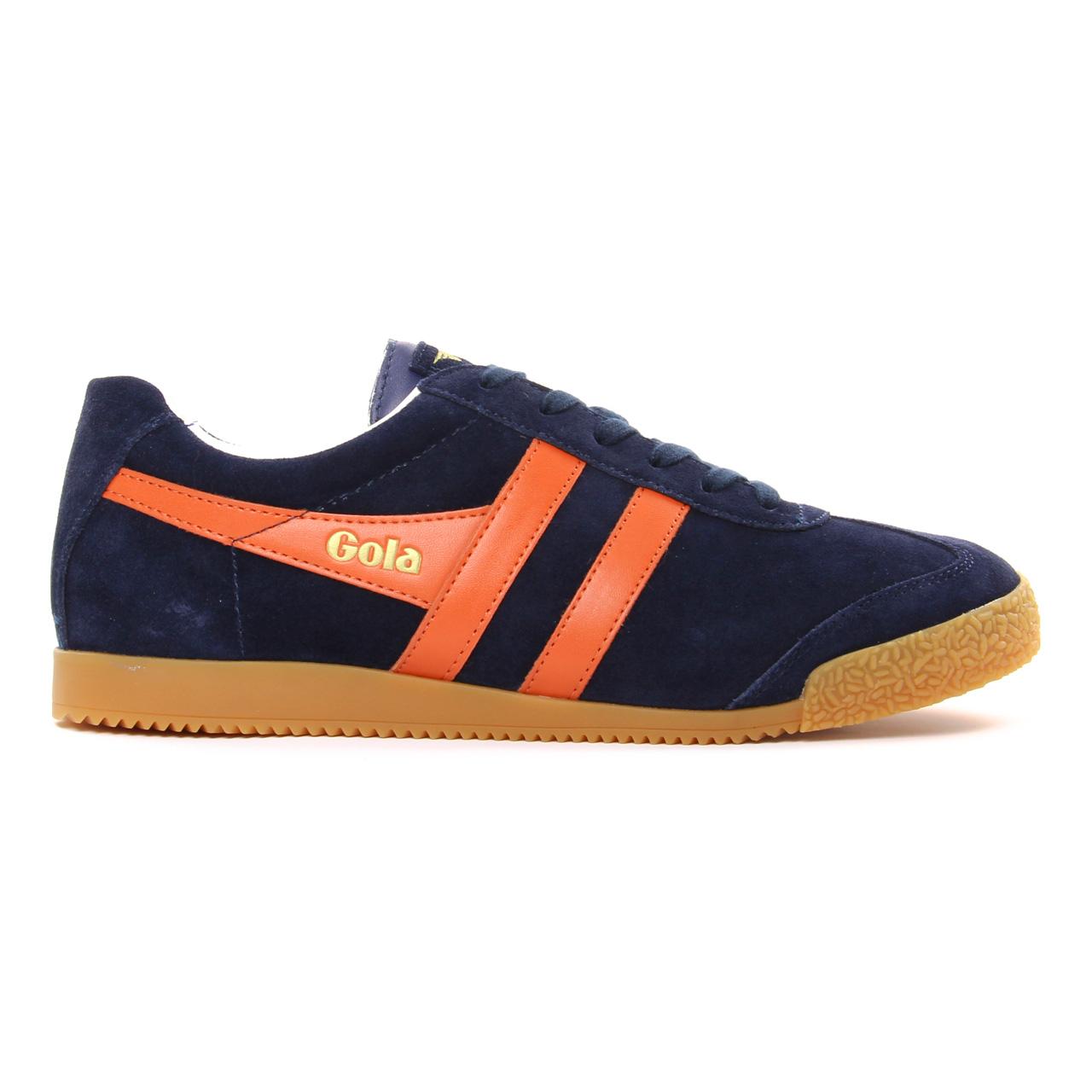 gola harrier 192 navy orange tennis bleu orange printemps t chez trois par 3. Black Bedroom Furniture Sets. Home Design Ideas