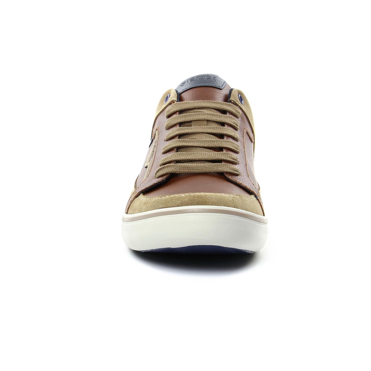 Geox U743Ac Cognac   tennis marron beige printemps été chez