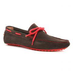mocassins-bateaux marron foncé: même style de chaussures en ligne pour hommes que les Geox Homme
