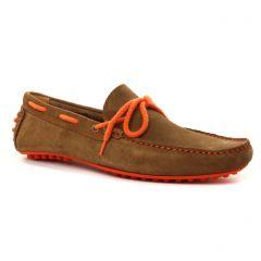 mocassins-bateaux marron: même style de chaussures en ligne pour hommes que les Rieker