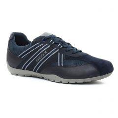 Chaussures homme été 2018 - tennis Geox Homme bleu gris