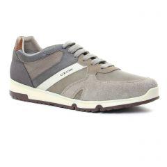 Chaussures homme été 2018 - tennis Geox Homme gris marron