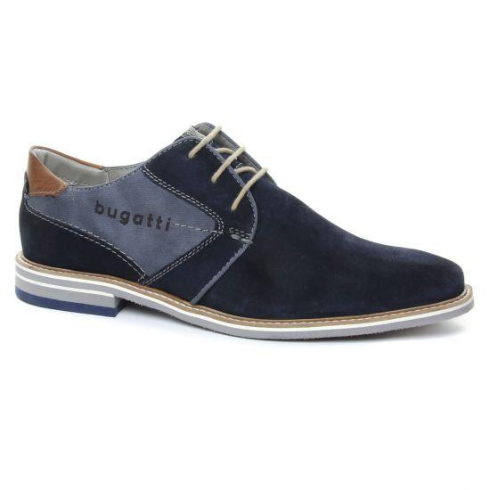 Chaussures Basses À Lacets Bugatti 44701 Dark Blue, vue principale de la chaussure homme