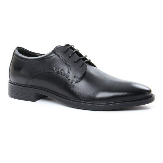 Chaussures Basses À Lacets Geox U824Wa Black, vue principale de la chaussure homme