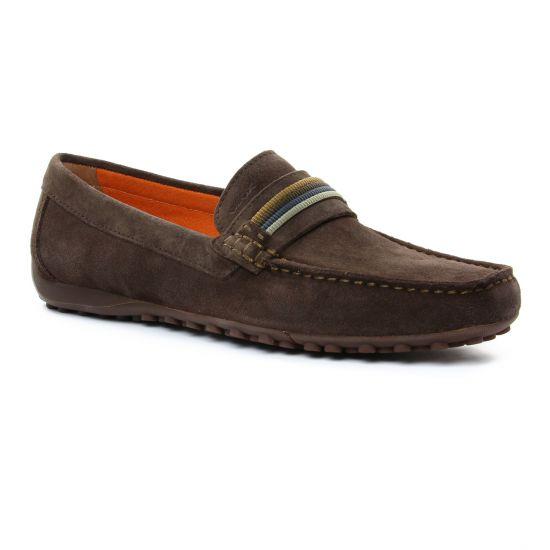 Mocassins Et Bateaux Geox U7207F Chocolat, vue principale de la chaussure homme