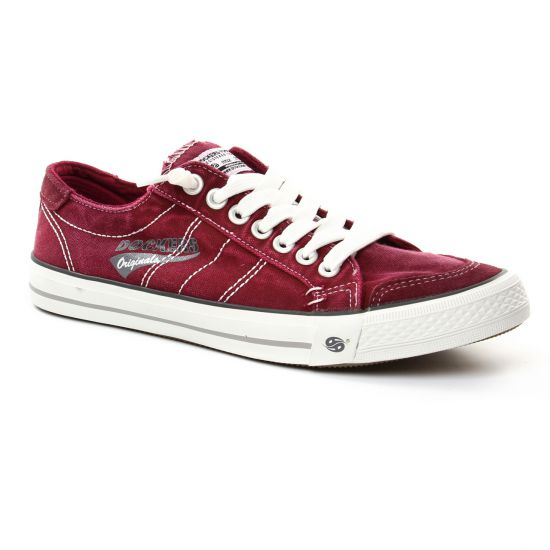 Tennis Dockers 3Ost027 Rouge, vue principale de la chaussure homme