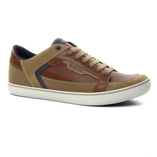 Tennis Geox U743Ac Cognac, vue principale de la chaussure homme